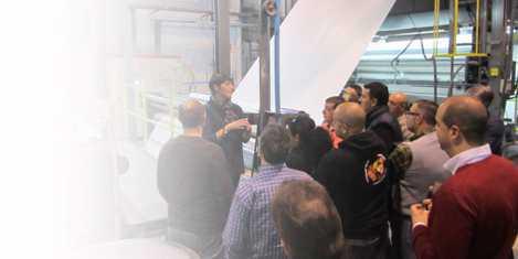 Visitas a empresas relacionadas con el sector del toldo